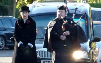 Scottish Piper Funeral